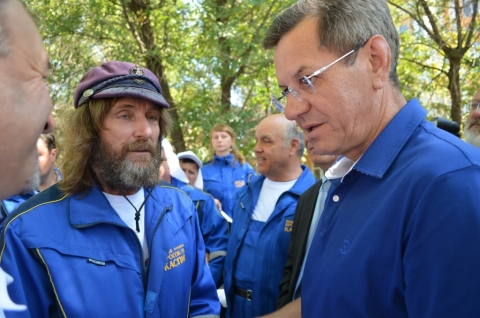 Известный путешественник Федор Конюхов наконец-то  добрался до  Астраханской области