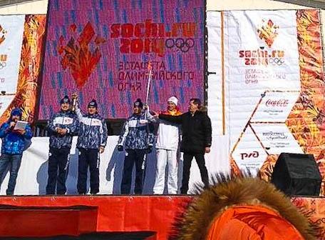 Астрахань приняла эстафету олимпийского огня