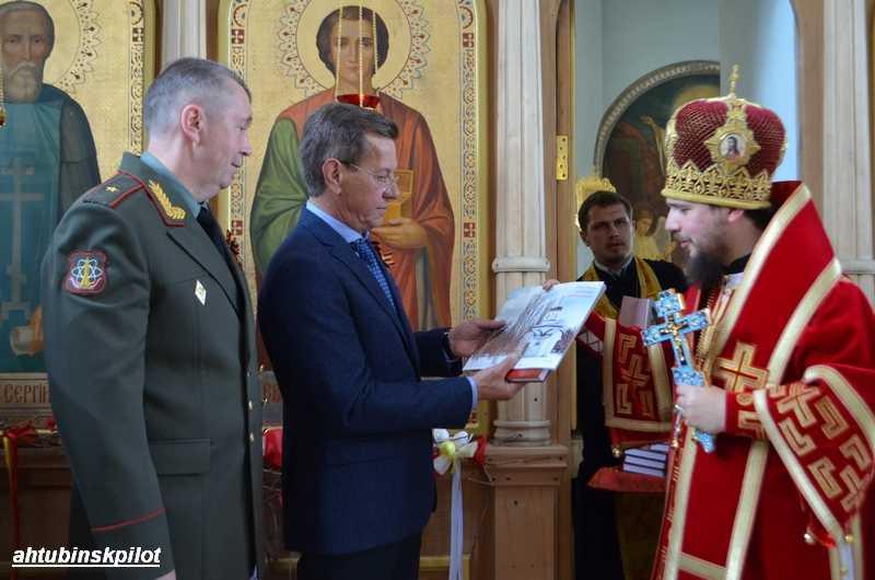 Губернатор  Александр Жилкин выразил высокую степень уважения по случаю двухлетия Ахтубинской и Енотаевской епархии