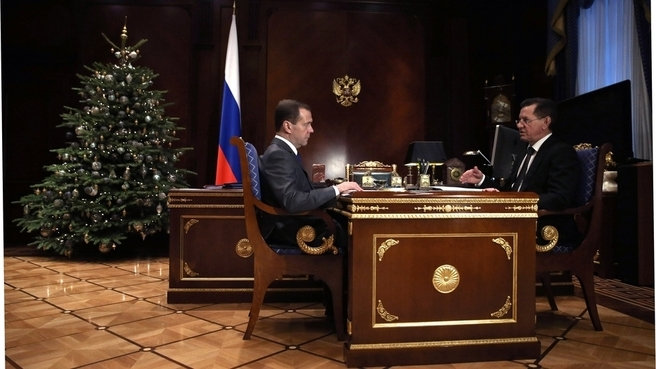 Александр Жилкин встретился с Дмитрием Медведевым