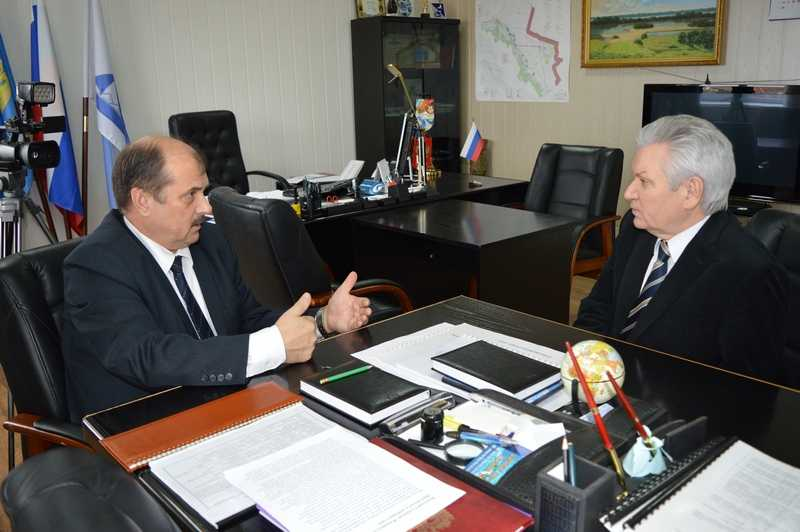 Состоялась встреча главы района со спикером областной Думы