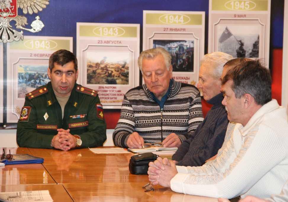 Здоровая армия –надёжная защита государства. Начальник Ахтубинского военного госпиталя встретился с ветеранами ГЛИЦ