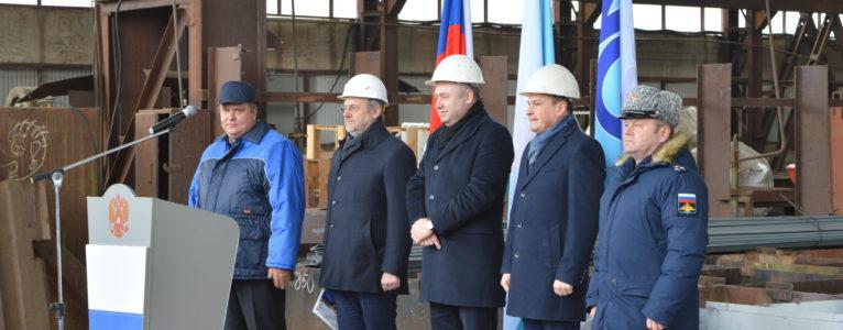 На ахтубинской верфи состоялась церемония закладки нового судна