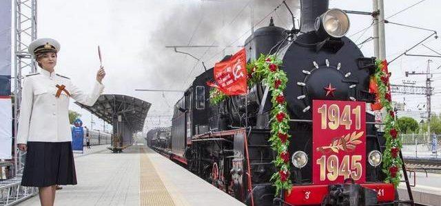 Обновлённый ретропоезд «воинский эшелон» готовится к отправлению