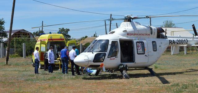 В Ахтубинске для перевозки больного впервые использовали вертолёт санавиации