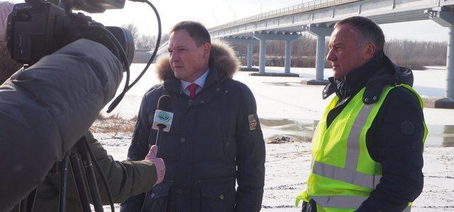 Мэр доложил губернатору о завершении ремонта автодорожного моста через реку Ахтуба