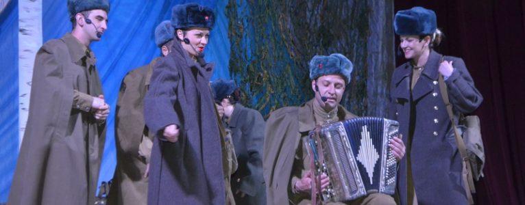 На сцене Ахтубинского Дома офицеров спектакль «Василий Теркин»
