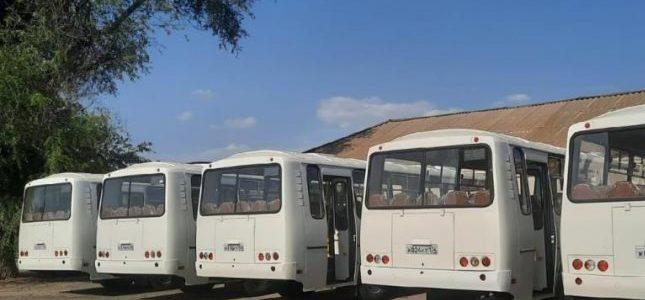 Автобусы выходят на маршрут